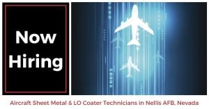 Aircraft Sheet Metal LO Coater Technicians Nellis AFB NV