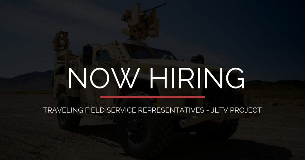 STS Technical Services JLTV Project 2F Jobs 1