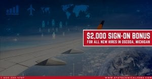 STS Technical Services is Offering a 2000 Bonus for Aircraft Maintenance Jobs in Michigan