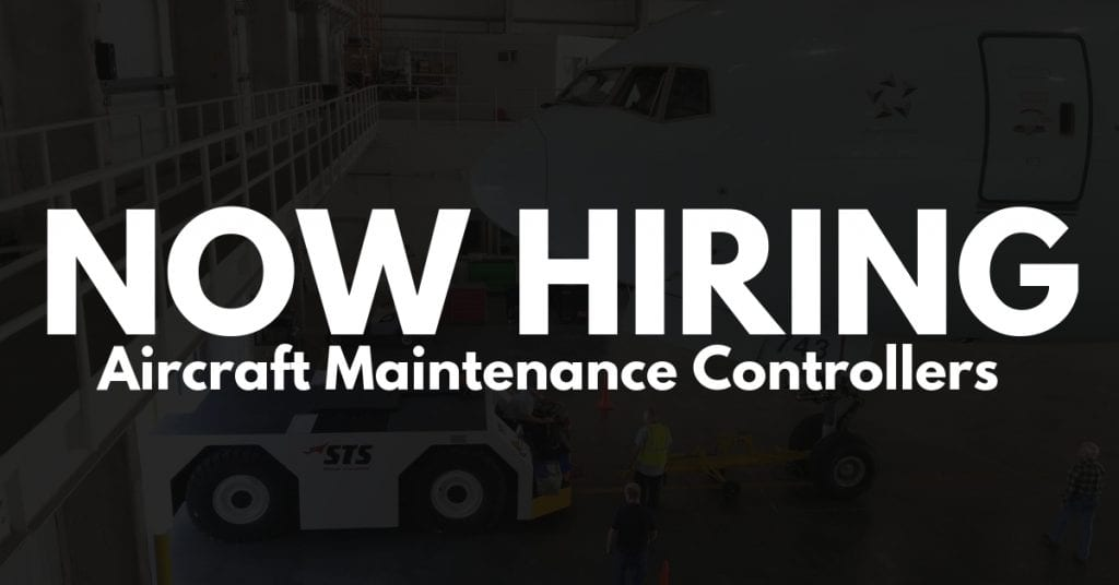 STS Technical Services is hiring Aircraft Maintenance Controllers