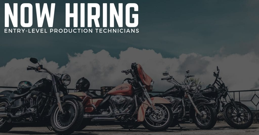 entry level Production Technician Jobs at Harley Davidson
