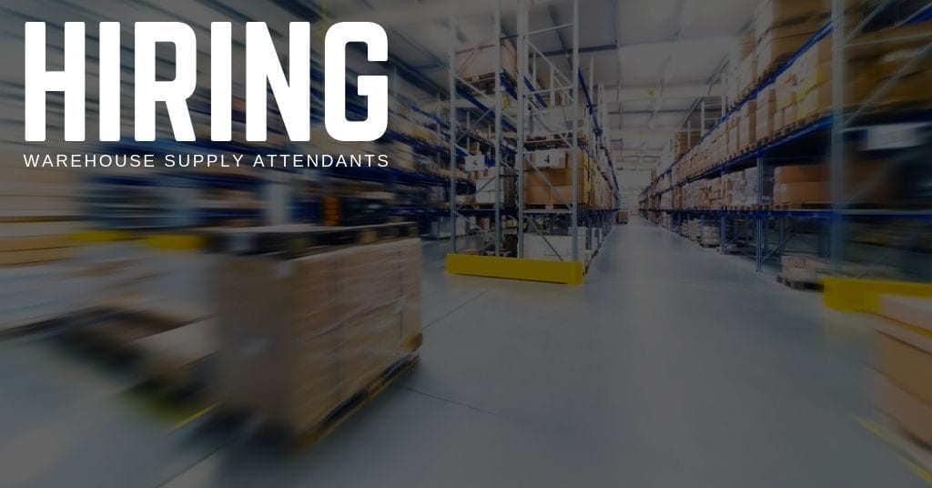 Warehouse Supply Attendant Jobs