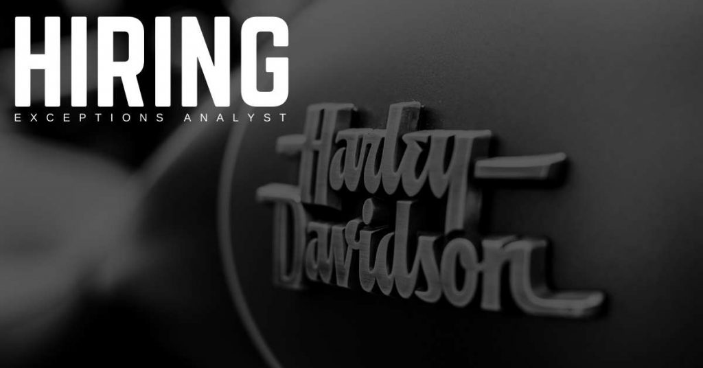 Exceptions Analyst Jobs for Harley-Davidson