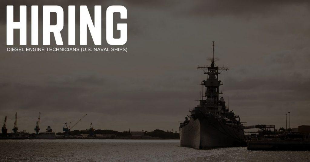 Diesel Engine Technicians (U.S. Naval Ships) Jobs in Norfolk, Virginia