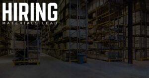 Materials Lead Jobs in Oshkosh, Wisconsin