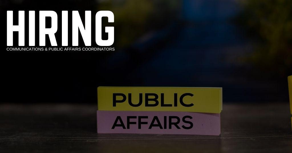 Communications & Public Affairs Coordinator Jobs