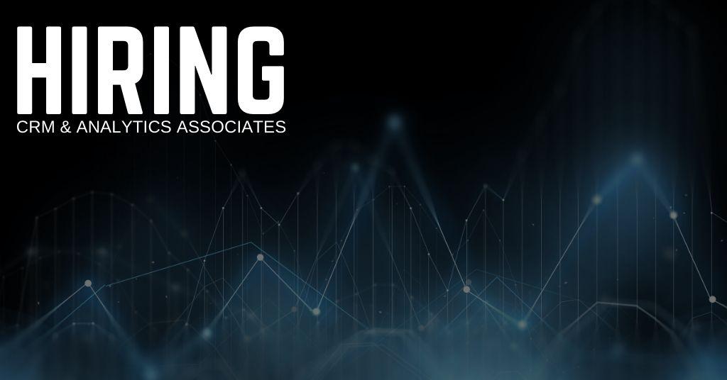 CRM & Analytics Associate Jobs