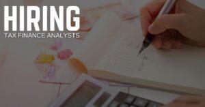 Tax Finance Analyst Jobs