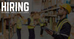 Material Operations Clerk Jobs